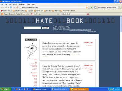 A Screen Shot of Hatebook from Omani Blogger Sleepless in Muscat's Site