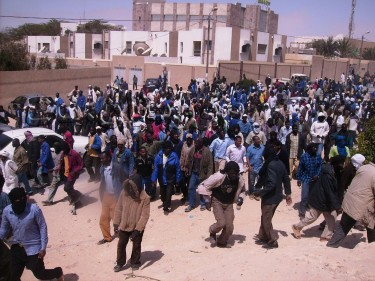 Photo of the Journalia Protest in Nouadhibou by Mauritannet blog