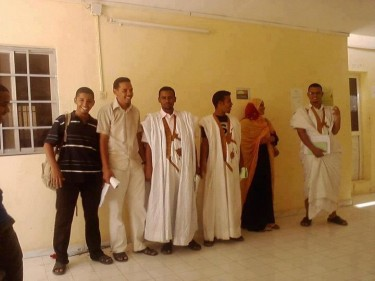 """صورة من الطلاب المطرودين """"صفحة موريتانيا الغد"""""""