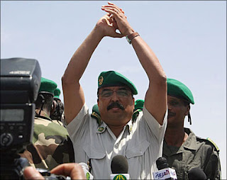 Mauritanian President, photo published by alkachiv blog