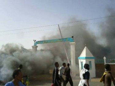 Photo of the clashes, uploaded by Abo Bakr Ahmado on his Facebook