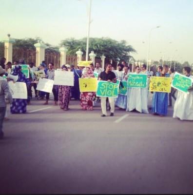 صورة من المسيرة نشرها الناشط @AhmedElmokhtar  على تويتر