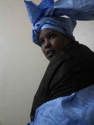 صورة من الناشطة الناشطة مريم منت الشيخ نشرها الناشط محمد جوجه على فيسبوك