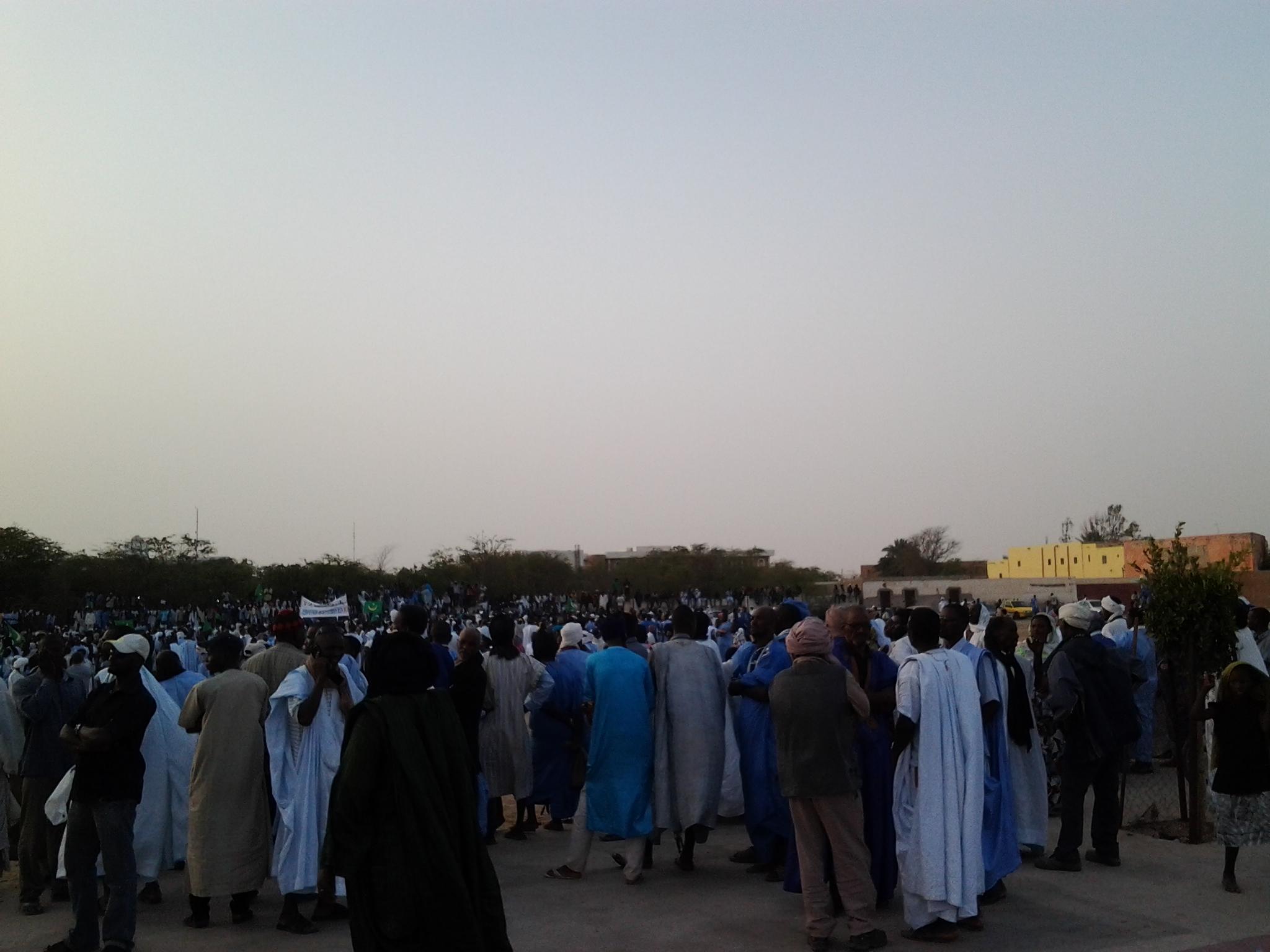 صورة من المهرجان الذي اختتمت به المسيرة-تصويرأحمد ولد جدو