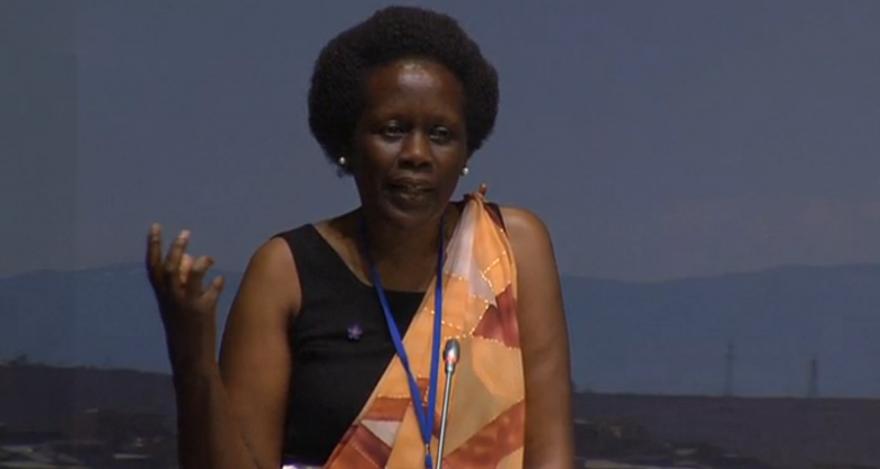 Esther Mujawayo. Source: Screenshot of the live broadcast.