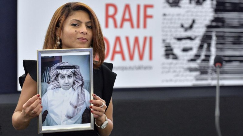 إنصاف حيدر، زوجة المدوّن السعودي المسجون رائف بدو
