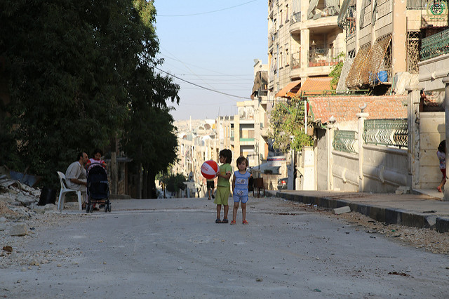 Aleppo, Syria. Photograph shared by IHH Humanitarian Relief Foundation on Flickr (CC BY-NC-ND 2.0)