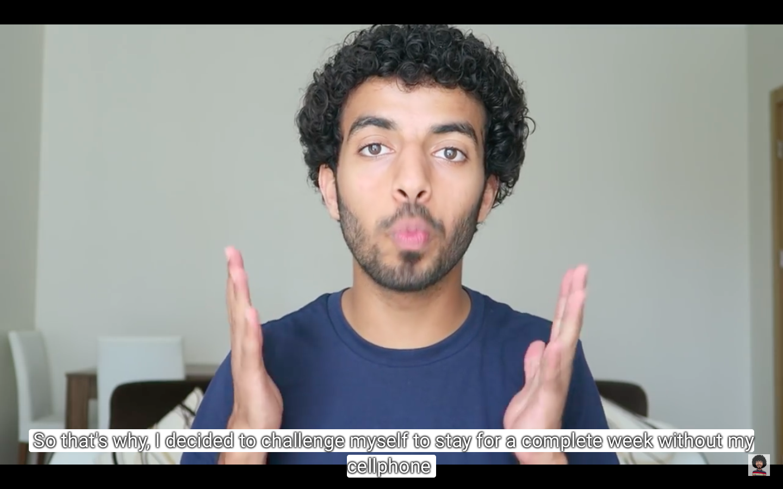 "لقطة شاشة من فيديو ""اسبوع بدون تلفون تغيرت حياتي | A WEEK WITHOUT A CELL PHONE"""