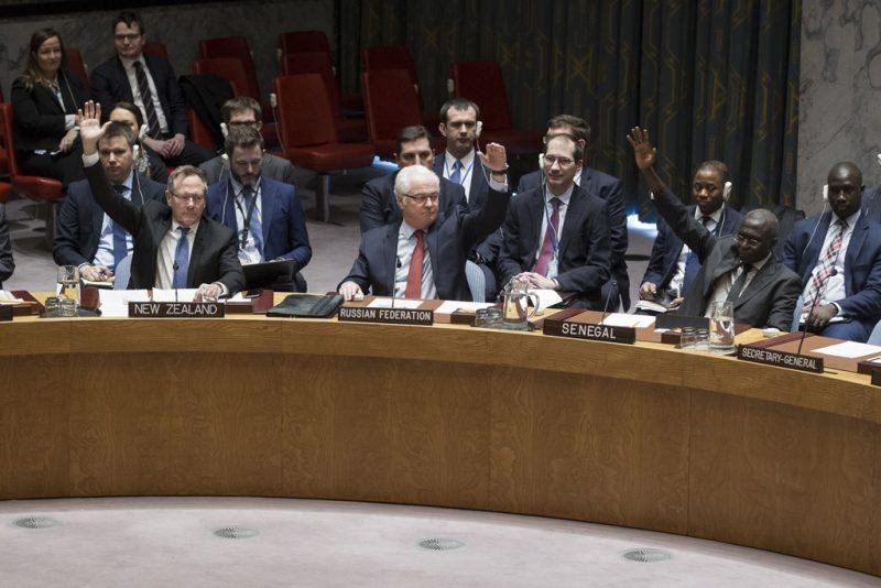 مجلس الأمن يتبنى بالإجماع القرار 2336 (2016) في 31 ديسمبر كانون الاول في دعم لجهود روسيا وتركيا لإنهاء العنف في سوريا. صور الأمم المتحدة / مانويل الياس